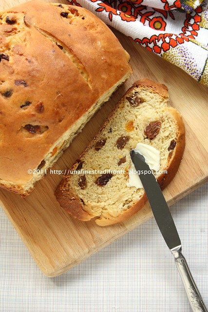 Barm brack cake (Pane dolce ai frutti)
