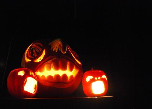 Lit Pumpkins 2