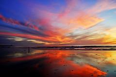Black's Beach Sunset, San Diego (kingdomany) Tags: ocean sunset red sea sky color beach photography seaside nikon flickr pacific dusk blacks seashore d90 colorphotoaward bestcapturesaoi
