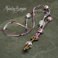"""key bead necklace - purple • <a style=""""font-size:0.8em;"""" href=""""https://www.flickr.com/photos/37516896@N05/6294733160/"""" target=""""_blank"""">View on Flickr</a>"""