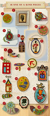 Handmade Jewelry Made with Love (Elsita (Elsa Mora)) Tags: woman house fish cute bird nature girl beautiful soldier happy necklace beads colorful pin handmade embroidery unique oneofakind small brooch jewelry redhouse ring bee sword ladybug bead cameo etsy embroidered beaded detailed elsita seedbead inspirationalboard elsamora inspirationalwall