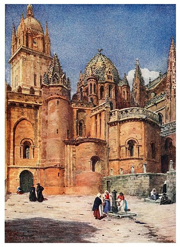 006-Salamanca antigua catedral-Cathedral cities of Spain 1909- William Wiehe Collins