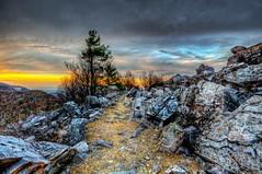 Blackrock Summit Sunset (Sky Noir) Tags: park travel blue sunset mountains virginia scenery rocks top scenic ridge trail national va summit shenandoah hdr skynoir bybilldickinsonskynoircom