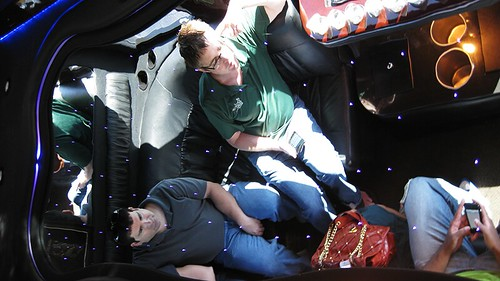 inside the limo beast