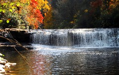 Waterfall Hike, North Caroloina Mountains (moonjazz) Tags: mountain color fall nature water photography waterfall quiet seasons hiking trails conservation northcarolina hike best serenity environment foilage appalachia masterpiece blueridge flckr moonjazz11
