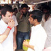 Rahul Gandhi taking Tea on a street dhaba, Sant Ravidas Nagar