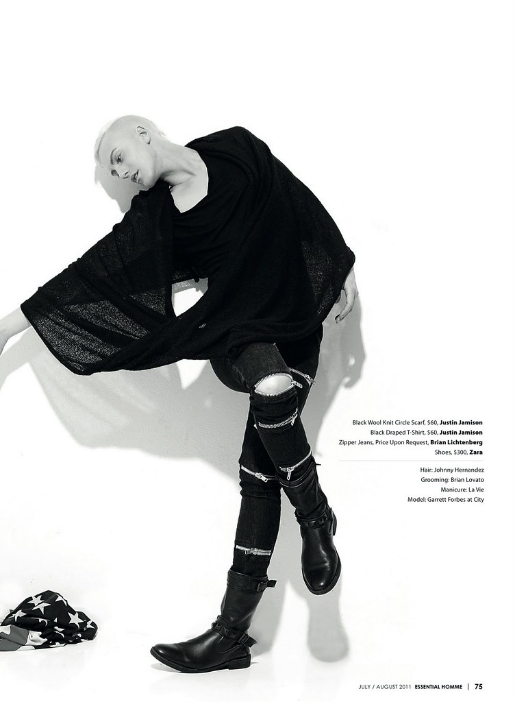 ESSENTIAL HOMME MAGAZINE | MODEL | Garrett Forbes | JUST MY IMAGI-NATION | JULY/AUGUST 2011 |