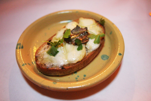 Robiola and truffle honey crostini by Caroline on Crack