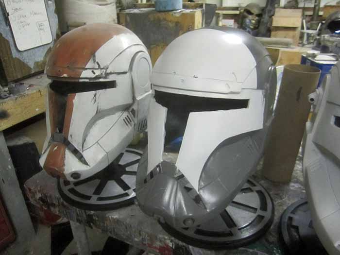 Helmet Stands Galactic Republic Cog Logo