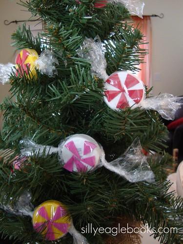 bottle cap peppermint ornaments