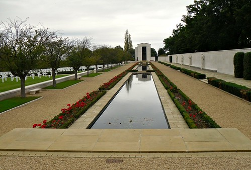 Long Vista And Water, US WW2 Memorial, Cambridgeshire