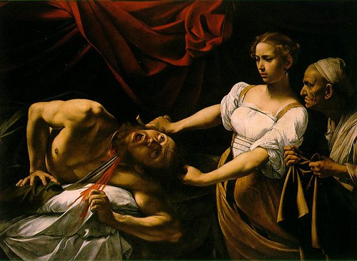Caravaggio's version of Judith Beheading Holofernes