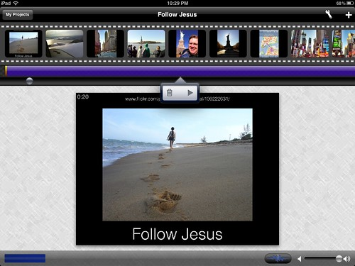 Narrated slideshow using ReelDirector for iPad