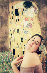 Once Was Not Had. (Beauty Board Media) Tags: flowers woman selfportrait color art self pose 50mm kissing hand replica