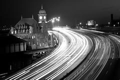 Clock Tower at Rush Hour