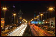 -    (omar salman) Tags: road light color cars gold photo nice long king slow image top 600 saudi shutter 135 18 riyadh fahad     klick              pictiur