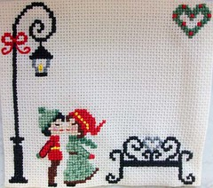 noel kiss wo snow (LaPaTs) Tags: christmas cross stitch ornament