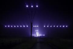 Close Encounters (Canonshot Mole) Tags: fog night airplane evening airport aircraft ufo closeencounters
