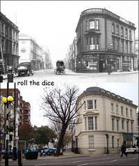 Charlwood Street`1920-2011 (roll the dice) Tags: london londonist westminster sw1 victoria pimlico oldandnew hereandnow pastandpresent views local history uk art classic closed architecture buildings tower lupusstreet 1920 postoffice mail tree dwellings flats pizza private churchillgardens estate delivery blitz bomb dead war 1940 old changes surreal council sad mad lost nostalgia urban