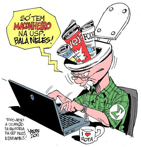 Como reagir aos maconheiros da USP? - Latuff