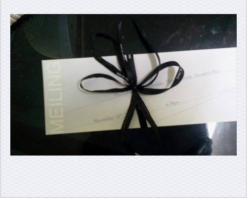 Meiling's fashion show ticket for tomorrow. by globewriter