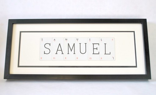 "Vintage Playing Cards framed ""Samuel"""