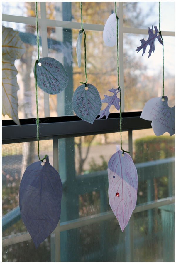 Gratitude Leaf Rubbings Garland for Thanksgiving