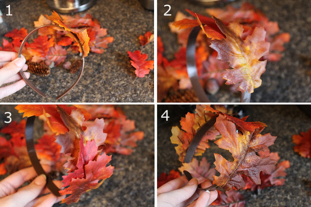 fall leaf crown