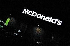 318/365 | McDonald's by night (rosberond) Tags: longexposure light brick cars sign night dark lowlight norfolk illuminated mcdonalds norwich carpark canonefs1785mmf456isusm 365for2011