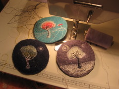 Small Landscapes (kayla coo) Tags: trees art landscape artwork stitch drawing embroidery sewing textile stitches handsewn stitched threads textileart kaylacoo