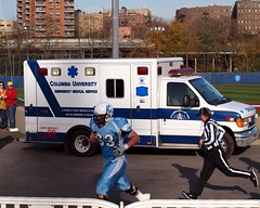 Brown Bears vs. Columbia Lions Football Game, Baker Field, New York City (Columbia Defeats Brown 35-28 in Double Overtime) (jag9889) Tags: city nyc brown newyork game college field truck football athletics university baker stadium manhattan bears ivy columbia ambulance medical lions service emergency ems complex league inwood inwoodite 11192011 robertkkraftfield lawrenceawienstadium gocolumbialions
