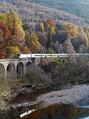 Railway viaduct, Killiecrankie (Niall Corbet) Tags: wood autumn train woodland river scotland perthshire viaduct garry nts killiecrankie