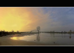 Bridge over the Rhine (Wim K) Tags: bridge sky sun holland tree water netherlands canon reflections river photography photo stock nederland delta powershot rhine rijn riverview stockphoto vianen stockphotography estuarium wpk s95 wpk2