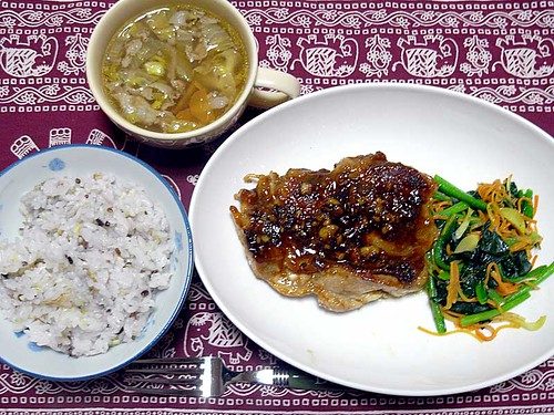 2012年3月18日の晩ご飯