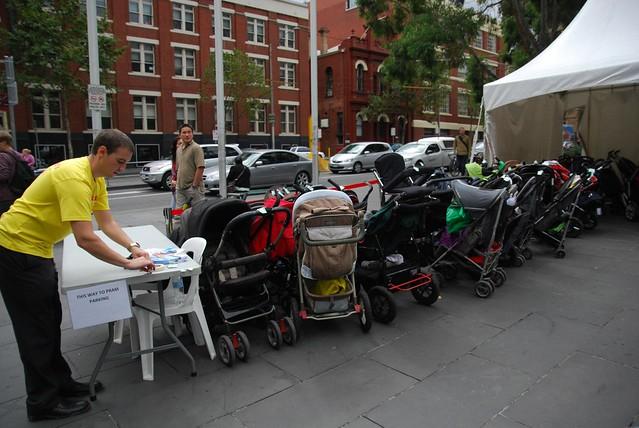 Free pram parking