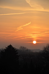 wednesday morning (redglobe*) Tags: morning red sky sun tree nature skyline clouds sunrise germany nikon münster d5100