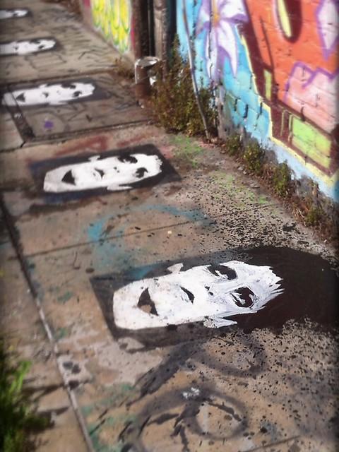 Lou Reed stencil art
