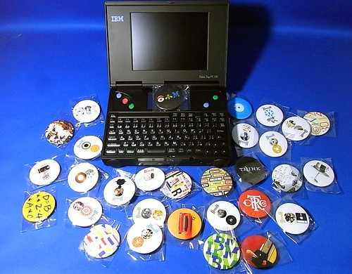Palm Top PC110&IBM Badge