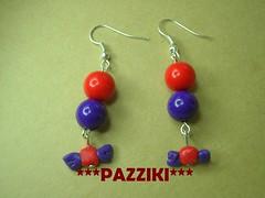 orecchini caramelle (pazziki***) Tags: bubble viola rosso caramelle orecchini