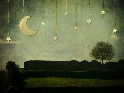 Moon, Tree and Stars