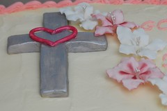 Fondant Cross and Flowers