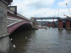 cranes by bridge