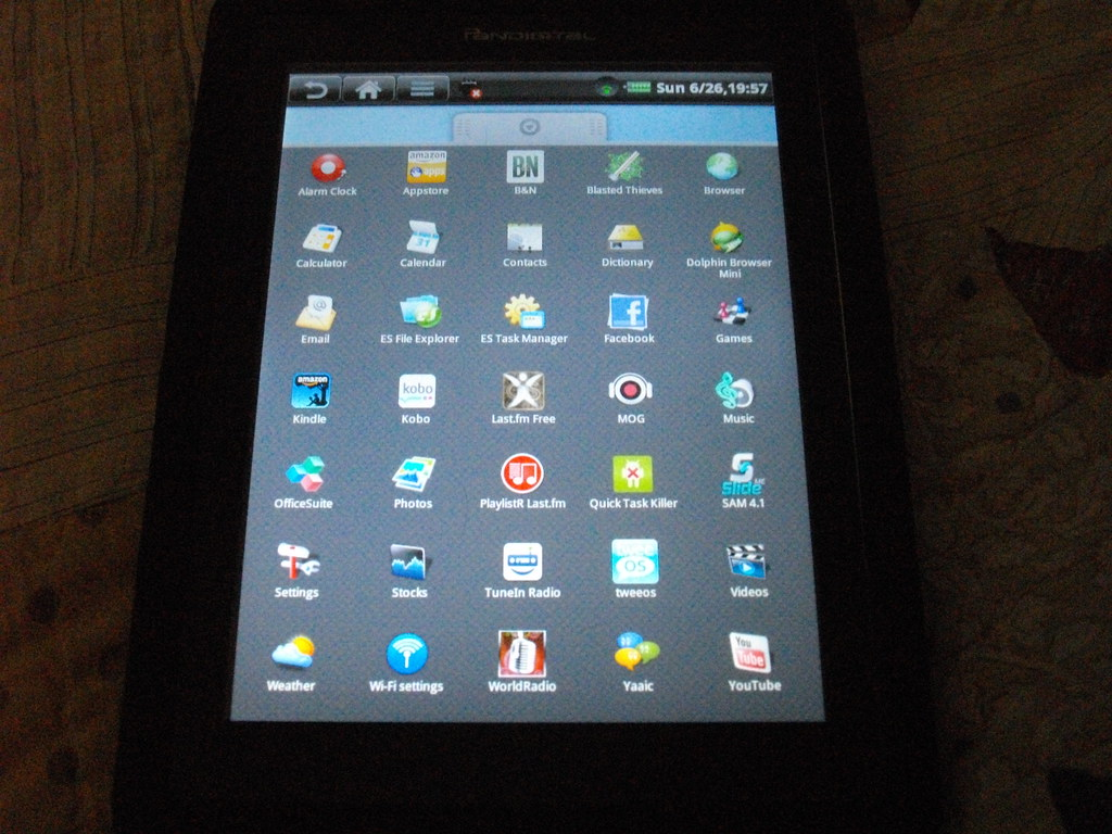 My pandigital novel 7 e-reader with apps installed