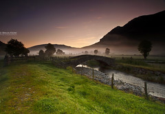 04.38am Sunrise & Mist (.Brian Kerr Photography.) Tags: bridge trees mist fog sunrise canon river landscape lakedistrict cumbria keswick blencathra stjohnsinthevale eos5dmkii