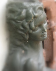 """I have always depended on the kindness of strangers.""  Blanche duBois, A Streetcar Named Desire (Kurlylox1) Tags: sculpture woman face thought neworleans dreaming frenchquarter streetcarnameddesire kindnessofstrangers blachedubois"