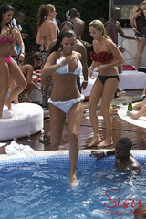 Lydia Rose Bright & Lucy Maclenburgh (sisuboutique) Tags: party pool spain bikini esp marbella towies