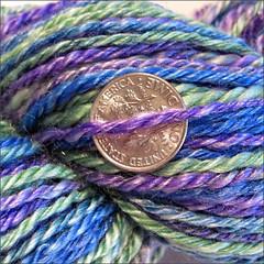 Spring Lake Lagoon yarn, close up
