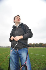 Martin preparing (Ed.ward) Tags: trees england sky london grass martin jeans strings kiteflying kiting richmondpark 2010 tractionkiting powerkiting kitekillers nikond700 nikkor20mmf28afd