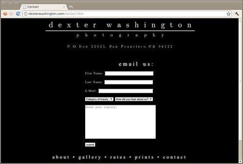 Dexter -- Contact Page