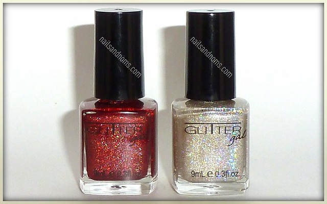 Glitter Gal Red Sparkle and Glitter Gal White Gold Sparkle